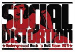 Social Distortion- Logo sticker (st502)