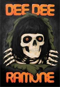 Dee Dee Ramone- Skull sticker (st226)