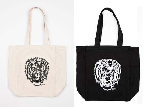 Tiger Flash Tote Bag by Sailor Jerry - SALE Black Only