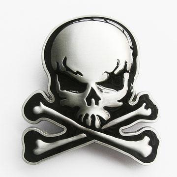 Skull & Crossbones belt buckle (bb330)