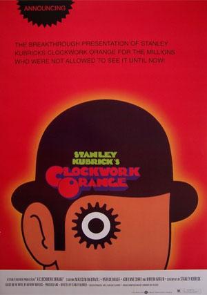 Clockwork Orange- Cartoon Bowler poster (c9)
