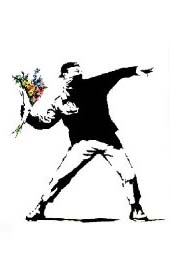 Banksy- Molotov Flowers poster