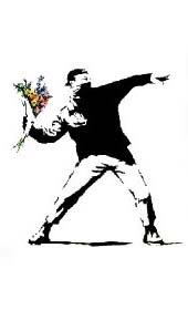 Banksy- Molotov Flowers poster