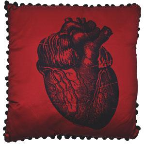 Anatomical Heart Pillow by Sourpuss