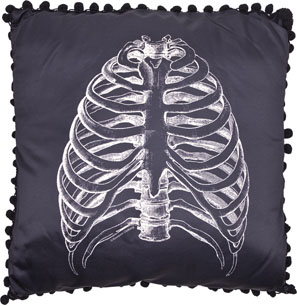 Anatomical Ribs Pillow by Sourpuss