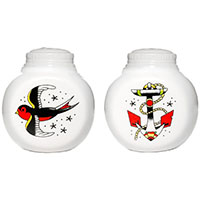 Anchor & Sparrow Salt/Pepper Shakers by Sourpuss - SALE