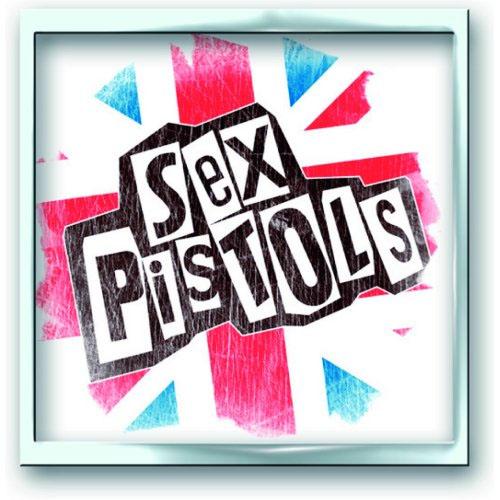 Sex Pistols- Union Jack metal stick back pin (MP49)