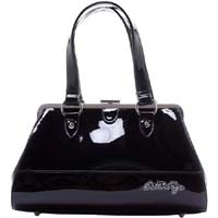 Bettie Page Centerfold Purse by Sourpuss - in Black - SALE