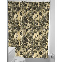 Sourpuss Tattooed Old Timers Shower Curtain - SALE