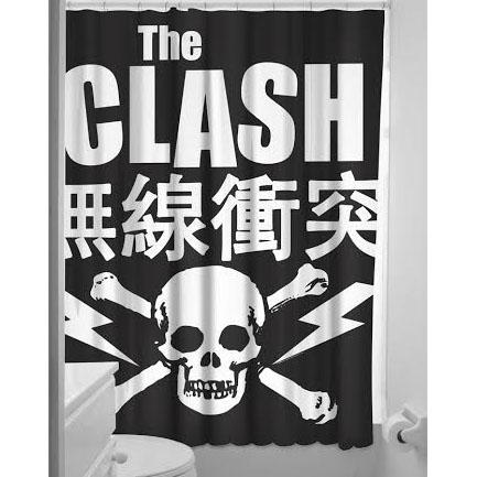 Sourpuss Clash- Skull Shower Curtain