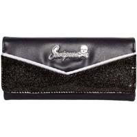 Monroe Wallet by Sourpuss - in Black/Black