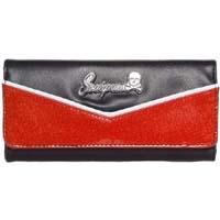 Monroe Wallet by Sourpuss - in Black/Red - SALE