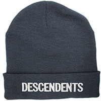 Descendents- Logo embroidered on a cuffed black beanie