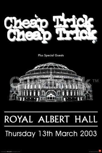 Cheap Trick- Live At Albert Hall poster (A6)