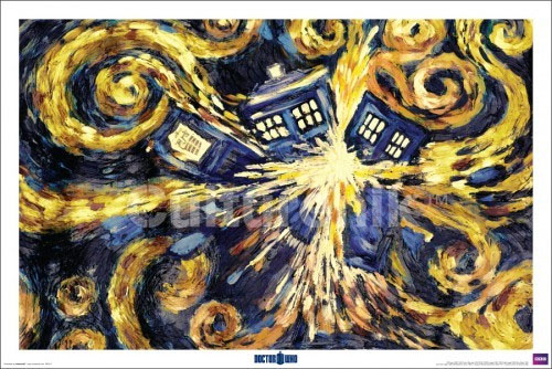 Doctor Who- Exploding Tardis (Van Gogh Style) poster