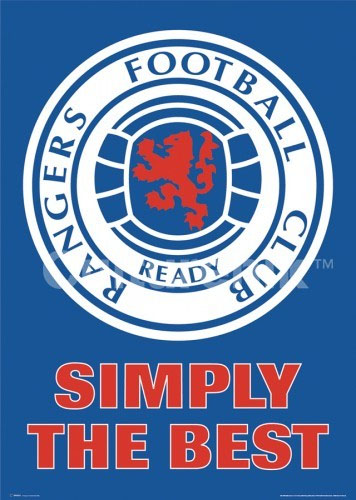 Rangers Football Club- Simply The Best poster (Sale price!)