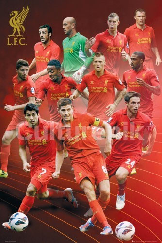 Liverpool- 2012/2013 Player Collage poster (Sale price!)