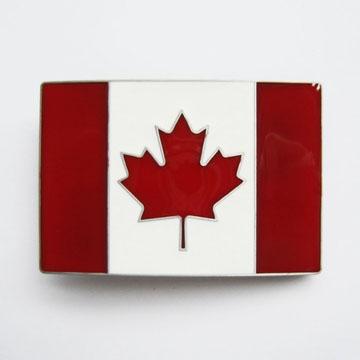 Canadian Flag Belt Buckle (bb190)