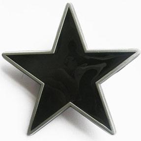 Black Star belt buckle (bb161)