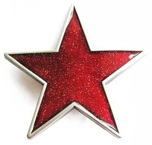 Red Star belt buckle (bb162)