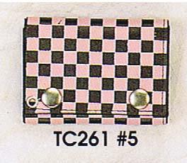 Checkerboard Chain Wallet- Pink & Black (Sale price!)