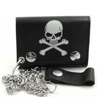 Skull & Crossbones wallet (comes with chain!)