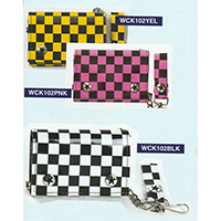 Checkered PVC Wallet by Addicted