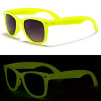 Sunglasses- GLOW IN THE DARK (Various Colors!) - Red only