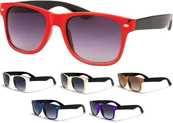 Sunglasses- METALLIC/BLACK (Various Colors!)