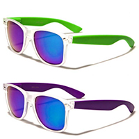 Sunglasses- FROSTED WITH COLORED ARM (Various Colors!)