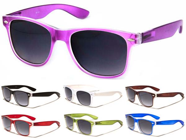 Sunglasses- COLOR WITH CLEAR (Various Colors!)