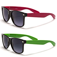 Sunglasses- BLACK WITH COLORED ARM (Various Colors!)