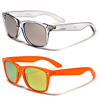 Sunglasses- Translucent Color With Mirrored Lens (Various Colors)
