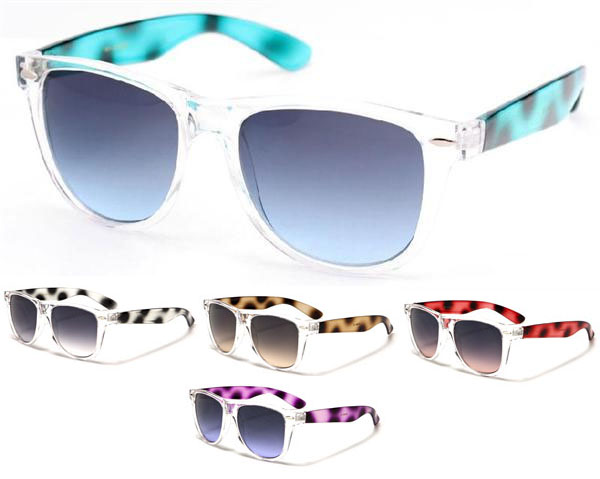 Sunglasses- CLEAR WITH TORTOISE (Various Colors)