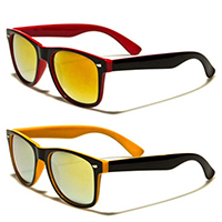Sunglasses- Two Tone Colored Mirror Lens (Various Colors)