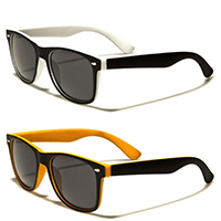 Sunglasses- Soft Rubber Two Tone Sunglasses (Various Colors)