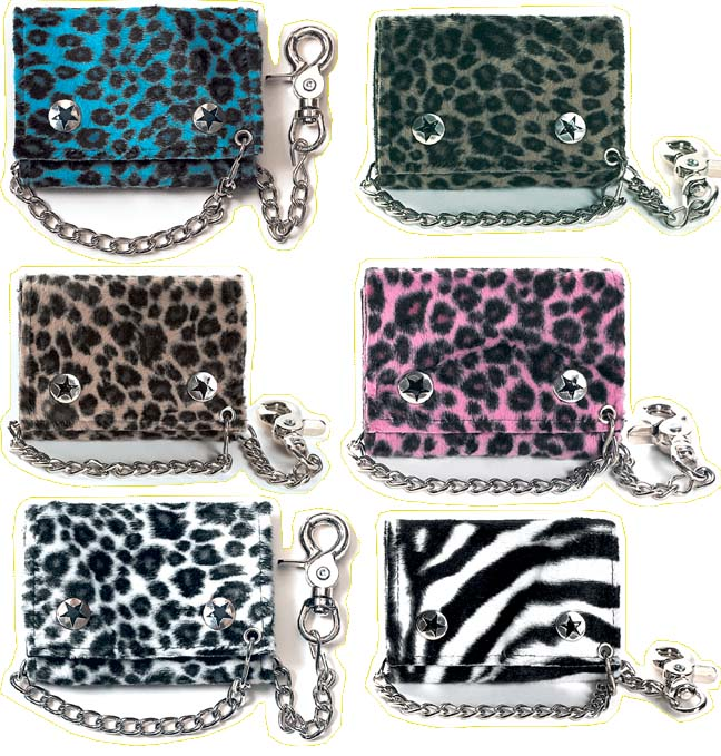 Fuzzy Leopard Print Wallet by Addicted
