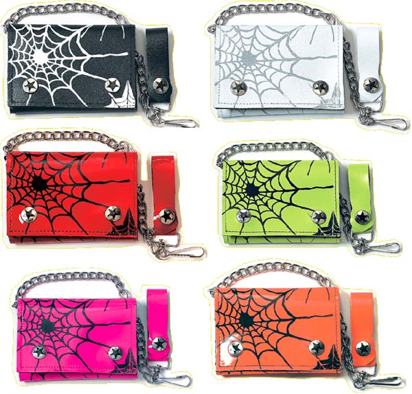 Spider Web Print Wallet by Addicted