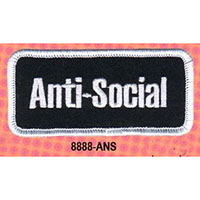 Anti-Social Embroidered Patch (ep83)