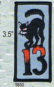 Black Cat 13 Embroidered Patch (ep75)