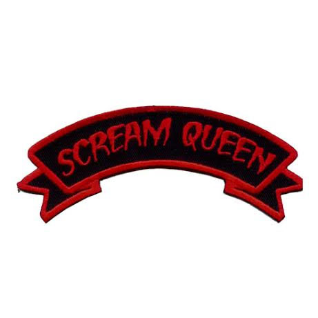 Scream Queen Embroidered Patch by Kreepsville 666 (ep367)