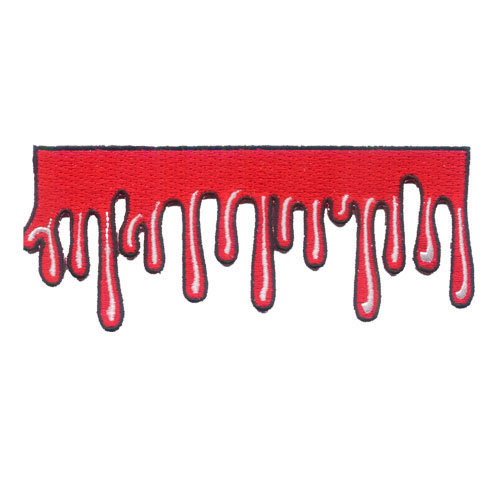Drippy Blood Embroidered Patch by Kreepsville 666 (ep363)
