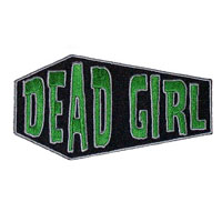 Dead Girl Embroidered Coffin Patch by Kreepsville 666 (ep352)