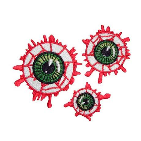 Eyeball Embroidered Patch Set by Kreepsville 666 (ep473)
