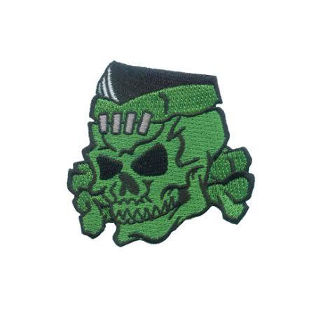 Psycho Stitched Skull Patch by Kreepsville 666 (ep366)