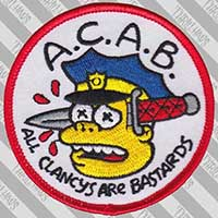 A.C.A.B. Chief Wiggum Embroidered Patch by Thrillhaus (ep455)