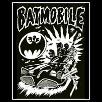 Batmobile- Brasil cloth patch (cp196)