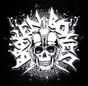 Broken Bones- Skull & Bullets back patch (bp285)