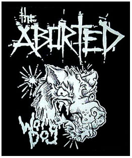 Aborted- War Dog back patch (bp289)