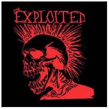 Exploited- Let's Start A War Skull (Red) back patch (bp400)